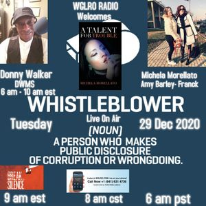 WGLRO Radio with Amy Barley - Franck and special guest Michela Morellato The DWMS- 12 29 2020