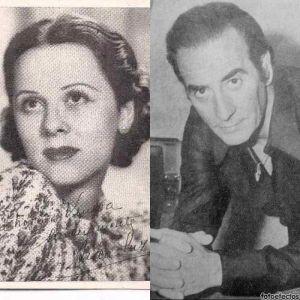 Anibal Troilo y junto a él, Aída Luz y Jorge Salcedo.