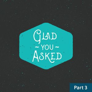Glad You Asked / Part Three / December 5 & 6