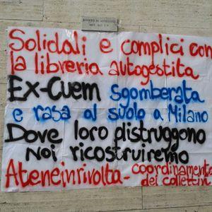 Ex CUEM Autogestita, all'Università Statale di Milano: in diretta telefonica dopo gli scontri