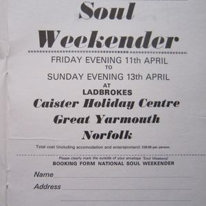 CHRIS HILL & ROBBIE VINCENT LIVE AT CAISTER No3 SATURDAY 19th ARRIL 1980