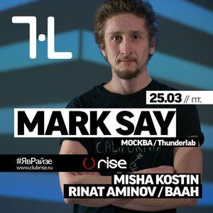 Rinat Aminov - Warm up DJ set 25.03.2016 @ Rise Club