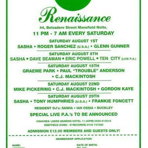 CJ Mackintosh live @ Renaissance @ Venue 44 in Mansfield 1992...ish - Side B