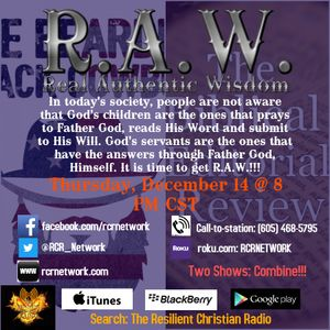 Let's Get R.A.W. (Real Authentic Wisdom) with God