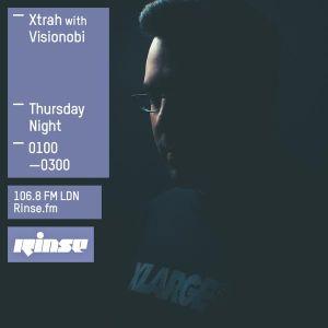 Xtrah feat. Visionobi MC (Cyberfunk, Symmetry Recordings) @ Rinse.fm 106.8 FM - London (17.07.2015)
