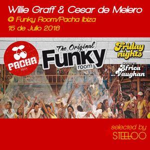 Willie Graff & Cesar de Melero, The Original Funky room @Pacha Ibiza