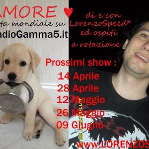 LORENZOSPEED present AMORE Radio Show Domenica 12 Maggio 2013 con MARCO B & MARCO ARMANi part 2
