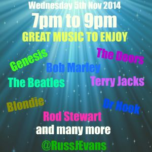 Back to the 60's & 70's with Russ Evans - 5thNovember 2014