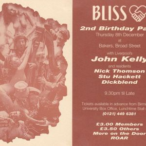 """""""Bliss""""ful Memories - a retrospective of house and progressive from the early 90s"""