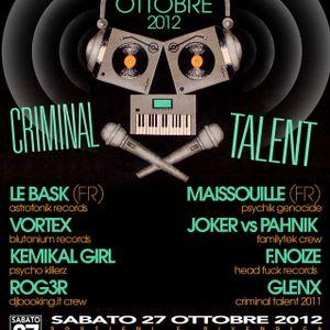 F. Noize live @ Criminal talent 2012 - 27 - 10 - 2012