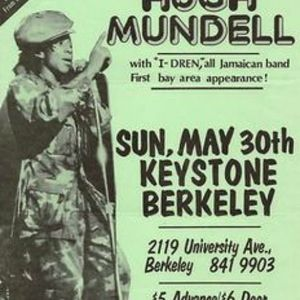 Hugh Mundell - Keystone Berkeley,CA May 30 1982 Rare Live Hugh Mundell