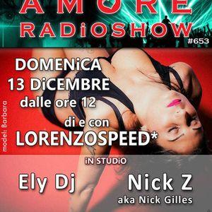 LORENZOSPEED* presents AMORE Radio Show Domenica 13/12/2015 with NiCK Z aka Nick Gilles audio pdcst!