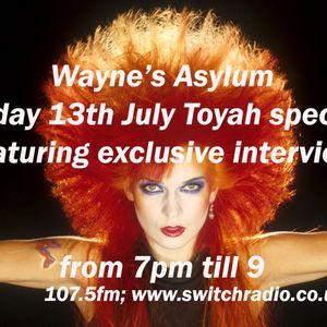 Wayne's Asylum Toyah special plus interview. Friday 13th July 2012