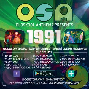 OSA 1991 all day Special 30Sept17 - Jack G