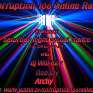 deejay archy saturday global trance jan 26th 2012