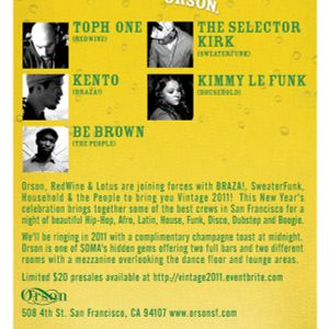 Kento Live at Vintage 2011 NYE