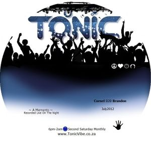 Cornel B2B Brandon ~ Recorded Live @ TonicVibe.co.za ~ July 2012
