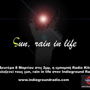 Radio Kitchen show-Ιnterview with the band 'sun, rain in life' in 08-03-10 @ Indieground Radio