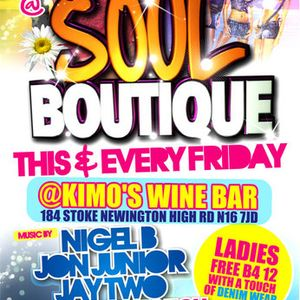 SOUL BOUTIQUE 1 (LIVE @ KIMO'S WINEBAR 5/3/10)