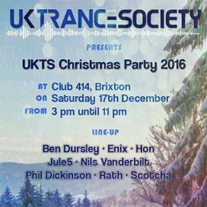 Live @ UK Trance Society Xmas Party 17.12.2016