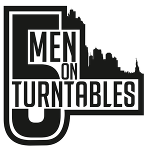 Five men on turntables mix
