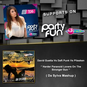Maeva Carter Supports Da Sylva mashup ''Harder Paranoid Lovers On The Stronger Sun'' on Fun Radio