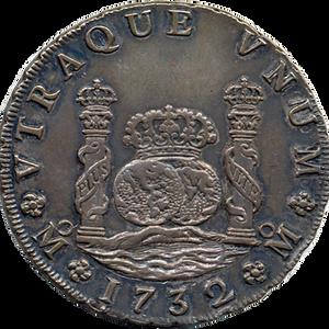 La moneda columnaria o mundos y mares