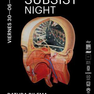 Fon @ Subsist Night at Agora 30.6.17