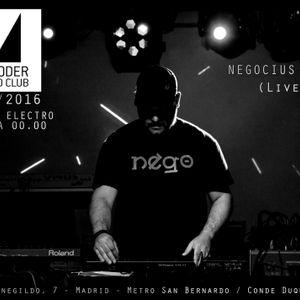 Negocius Man (Live) @ Moroder Sound Club, 5/11/2016 - Madrid