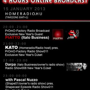 22h-23h (GMT+1):Darpa (Italo Business/ owner's exclusive radio show) pres. NYE DJset Radio Show008