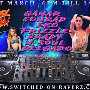 DJ Frizzle Live On Switched On Raverz - Midweek Mayhem 01st MAR.