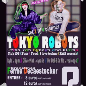 Tokyo Robots (aka Trish vs Klaina) @ Gravellines 2011 (4 turntable performance)