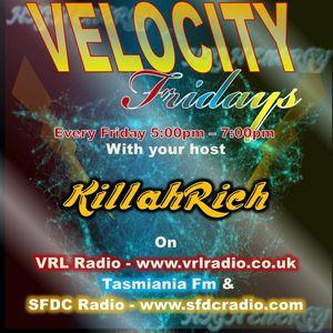 VELOCITY FRIDAYS-VRL RADIO-SFDC RADIO-TASMANIA 105.5FM