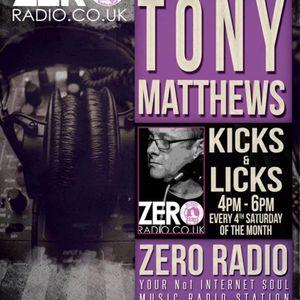 """Kicks & Licks with DJ Tony Matthews QVRM on Zero Radio 26/10/19 Part2"