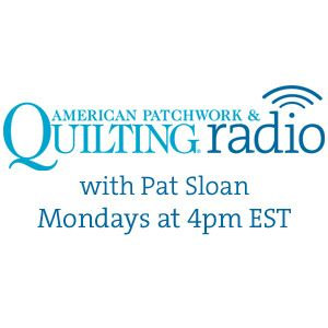 4-7-14  Heather Valentine, Bonnie Forkner, and Barb Eikmeier with Host Pat Sloan of American Patchwo