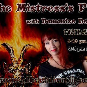 9.3.17 Mistress's Pit with Demonize Debz on Metal Devastation Radio