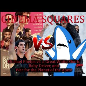Michael Phelps vs. A Great White Shark, Baby Driver, and War for the Planet of the Apes!