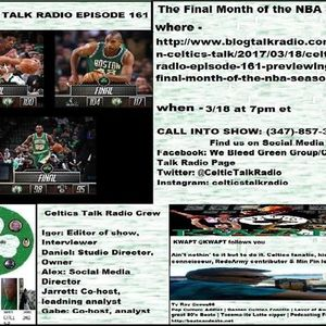 Celtics Talk Radio Episode 161 previewing the final month of the NBA season