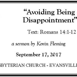 Avoiding Being a Disappointment (Audio)