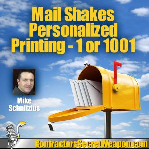 Mailshakes.com Personalized Printing 1 or 1001 with Mike Schnitzius 174