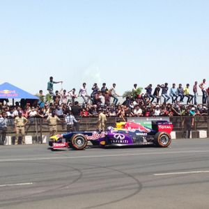 Red Bull F1 Showcar Run With David Coulthard