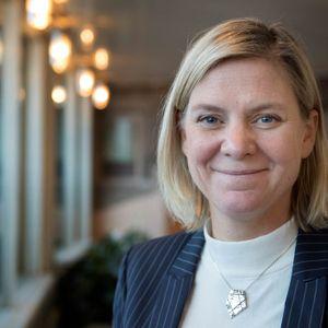 Socialdemokraternas Magdalena Andersson är dagens gäst