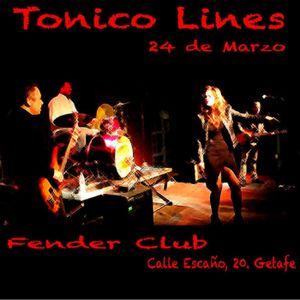 Tónico Lines Rock & Roll en vivo en @fenderclub