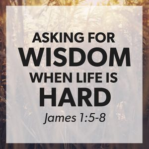 Asking For Wisdom When Life Is Hard [July 9 2017]