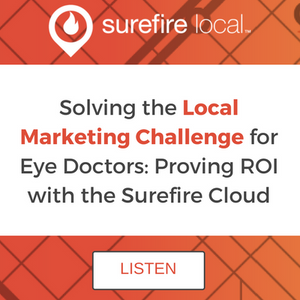 The Local Marketing Challenge for Eye Doctors: Proving ROI with the Surefire Cloud