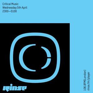 Critical Sound No.41   RInse FM   Foreign Concept & Halogenix   05.04.2017