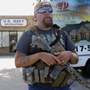 Gunning for the end times: Inside America's citizen-state arms race.