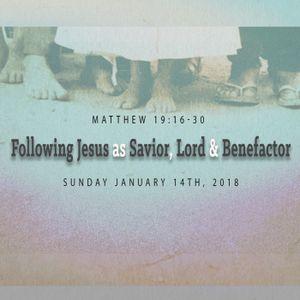 Following Jesus as Savior, Lord and Benefactor