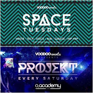 SPACE Tuesdays X PROJEKT Saturdays - The Urban Mixtape.
