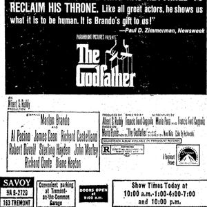 Boston Herald Archive Of The Day Godfather Premieres In NYC 3 - 15 - 1972